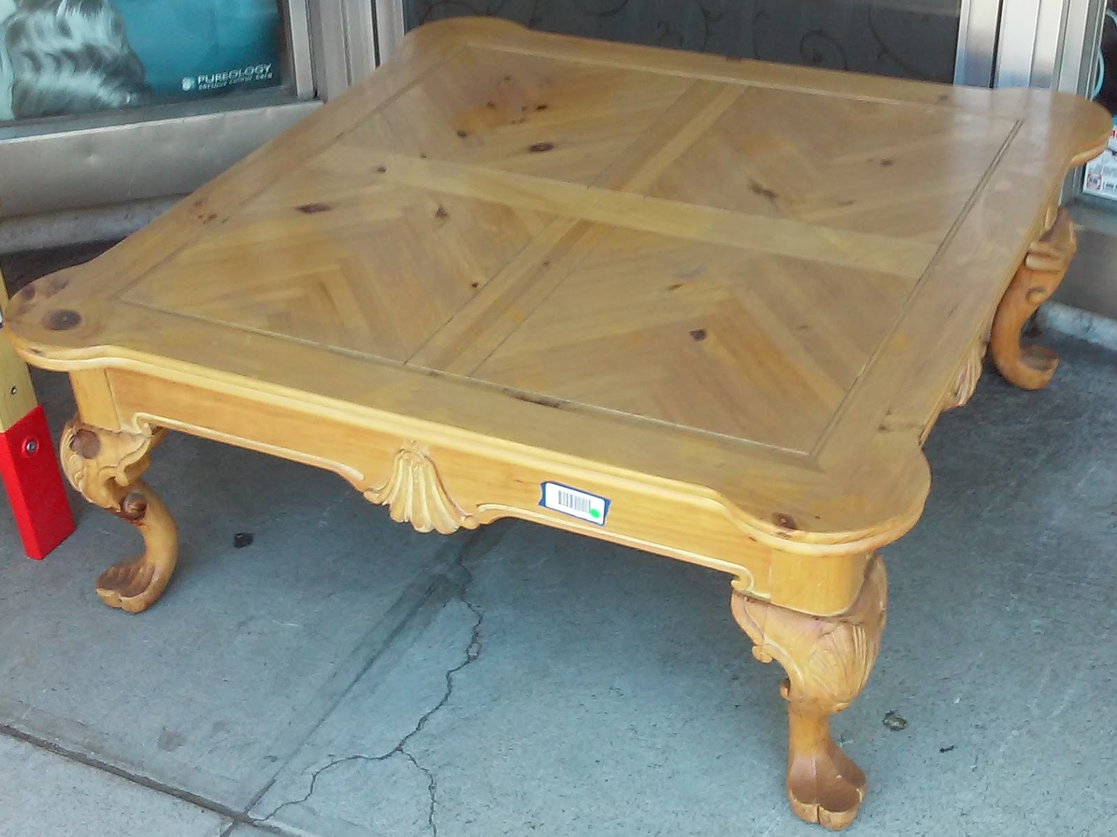 Uhuru Furniture Collectibles Sold 3784 French Pine 40 Square Coffee Table 40