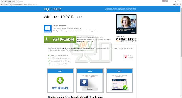 Regtuneup.com pop-ups