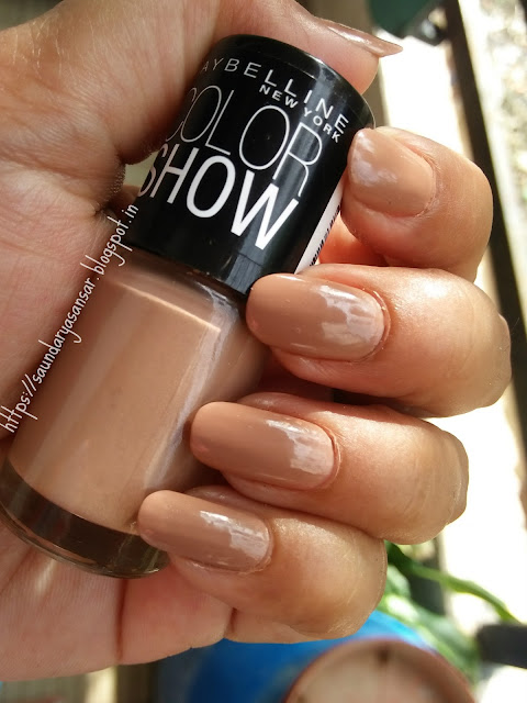 Maybelline Color Show nail enamel- Nude Skin Review, Swatches
