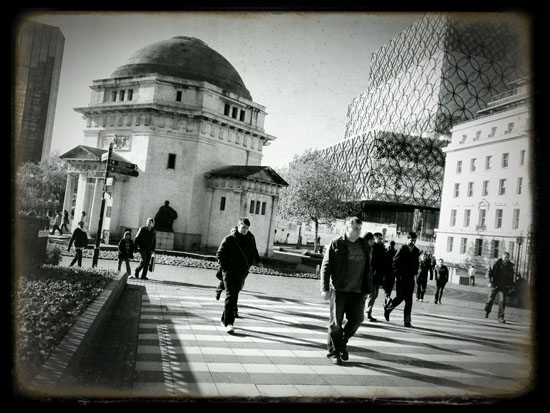 In Birmingham with an iphone - some major city landmarks