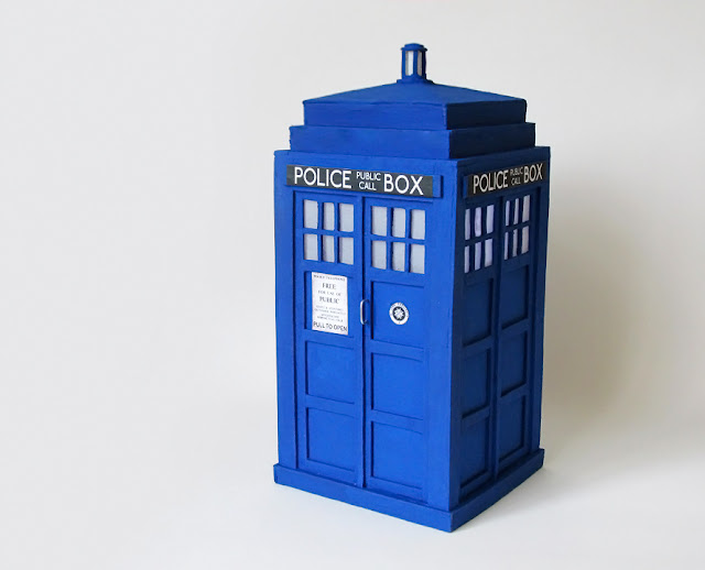 DIY: Como Fazer TARDIS - DOCTOR WHO - Artesanato com palitos de picolé