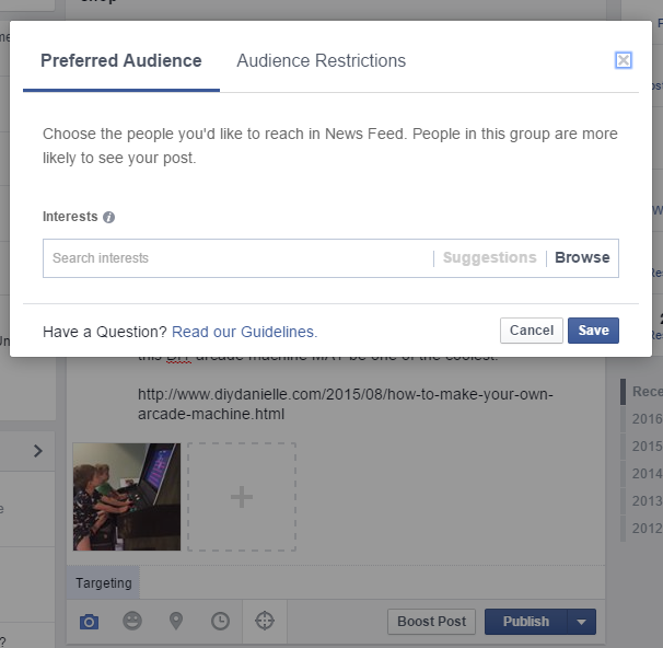How to increase your Fan Page's Facebook reach by adding a preferred audience for posts.