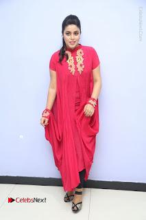 Actress Poorna Latest Stills in Red Dress at Rakshasi First Look Launch  0347.JPG