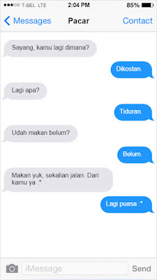 SMS Pacar