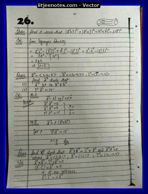 Vector Class 11 problems1
