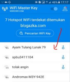 pencarian wifi key