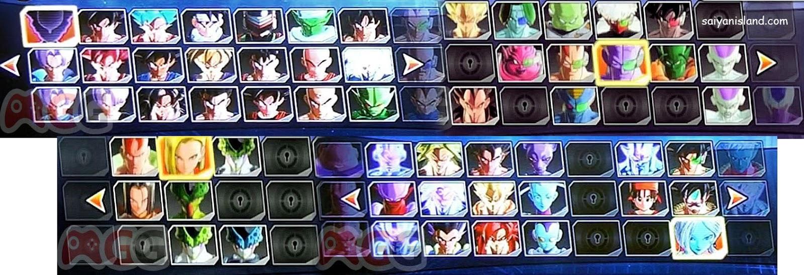 Se filtra imagen con el plantel de personajes de Dragon Ball Xenoverse 2