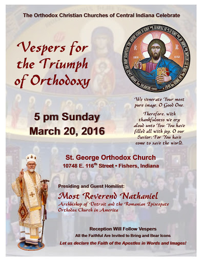 2016 the Sunday of Orthodoxy Vespers