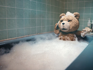 Ted Movie Teddy Bear in Bath Funny HD Wallpaper