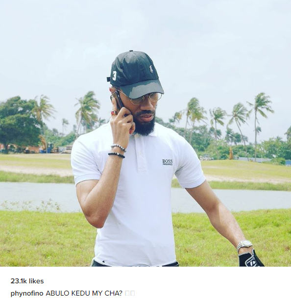 Lol. The caption on this photo of Phyno though