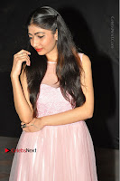 Actress Nidhisha Reddy Pos in Beautiful Pink Dress at Virus Telugu Movie Audio Launch .COM 0006.JPG