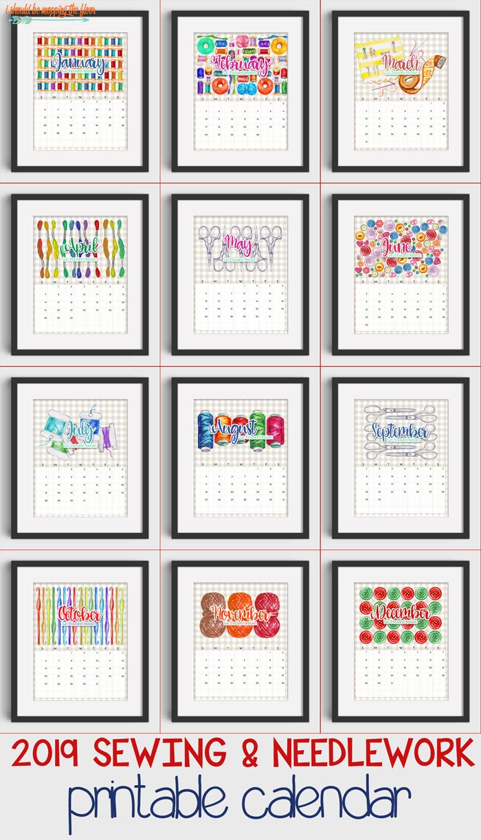 Sewing and Crafting Calendar