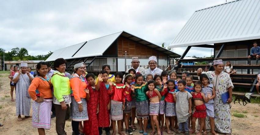PRONIED: Inauguran nueva infraestructura para colegio de la comunidad nativa Santa Rosa en la región Ucayali - www.pronied.gob.pe
