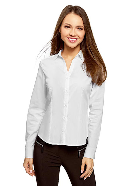 Camicia taglio classico in bianco