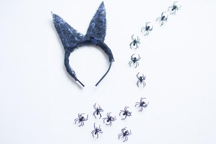 Diadema Halloween encaje