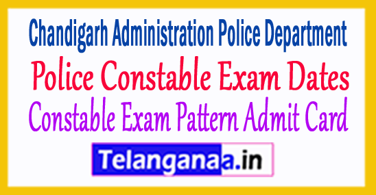 Chandigarh Police Constable Exam Pattern Admit Card 2017