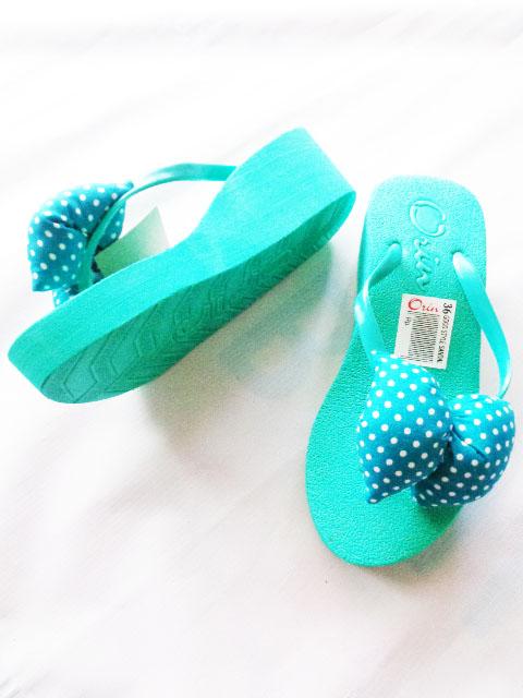 Sandal Spon Hak Orin Green Cantik