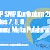 RPP SMP Kurikulum 2013 kelas 7, 8, 9 Semua Mata Pelajaran