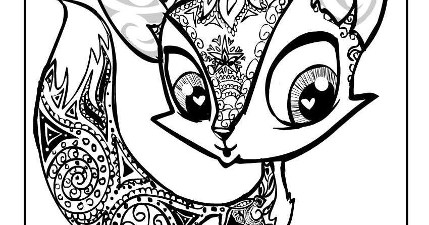 Creative Cuties: Foxy Fox coloring page