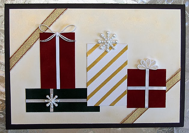 Quilled Christmas Presents Card