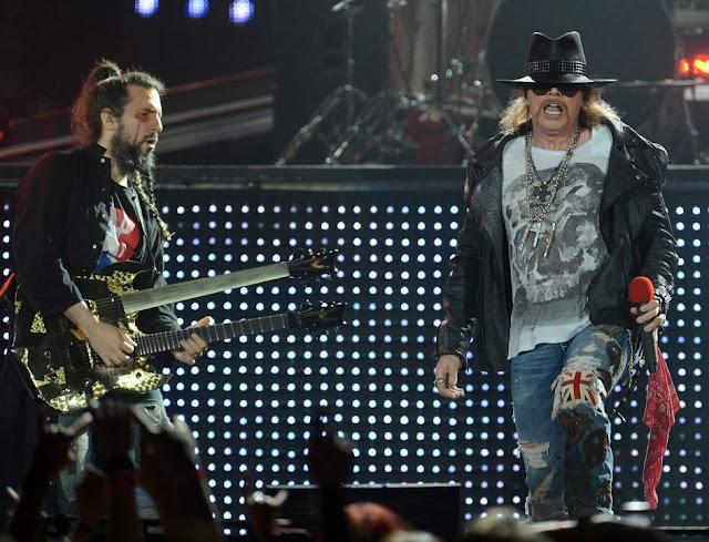 Ron 'Bumblefoot' Thal y Axl Rose (Guns N' Roses)