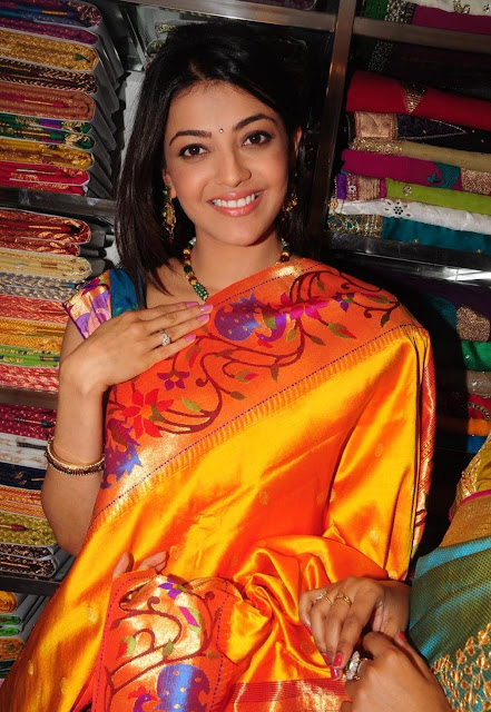 Actress Kajal Agarwal Saree Photos