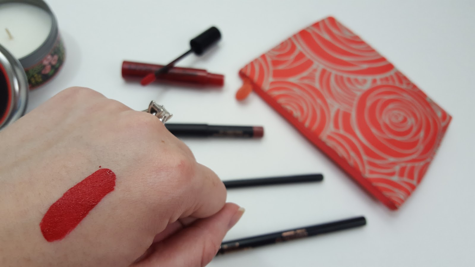 Nyx liquid suede cream lipstick in kitten heels- swatch and review