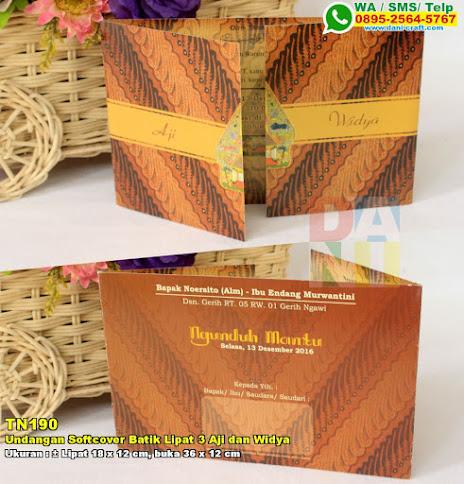 Undangan Softcover Batik Lipat 3 Aji Dan Widya