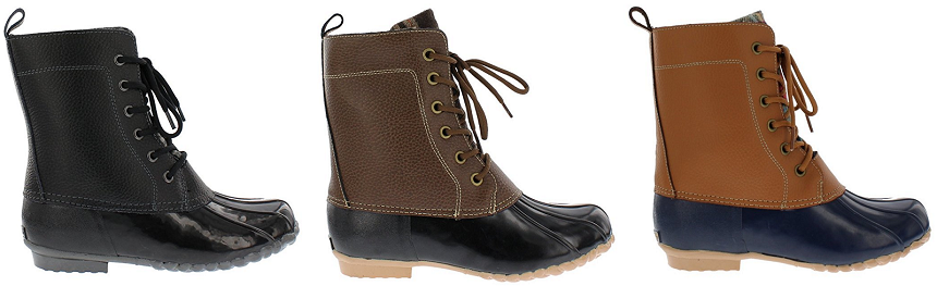 Sporto Nancy Duck Boots for only $30 (reg $100)