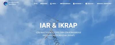 Halaman web Aplikasi Amatir Radio