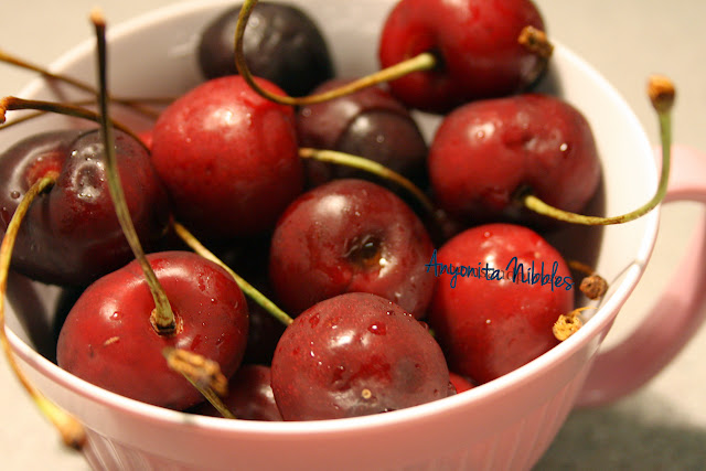 Sweet, fresh cherries