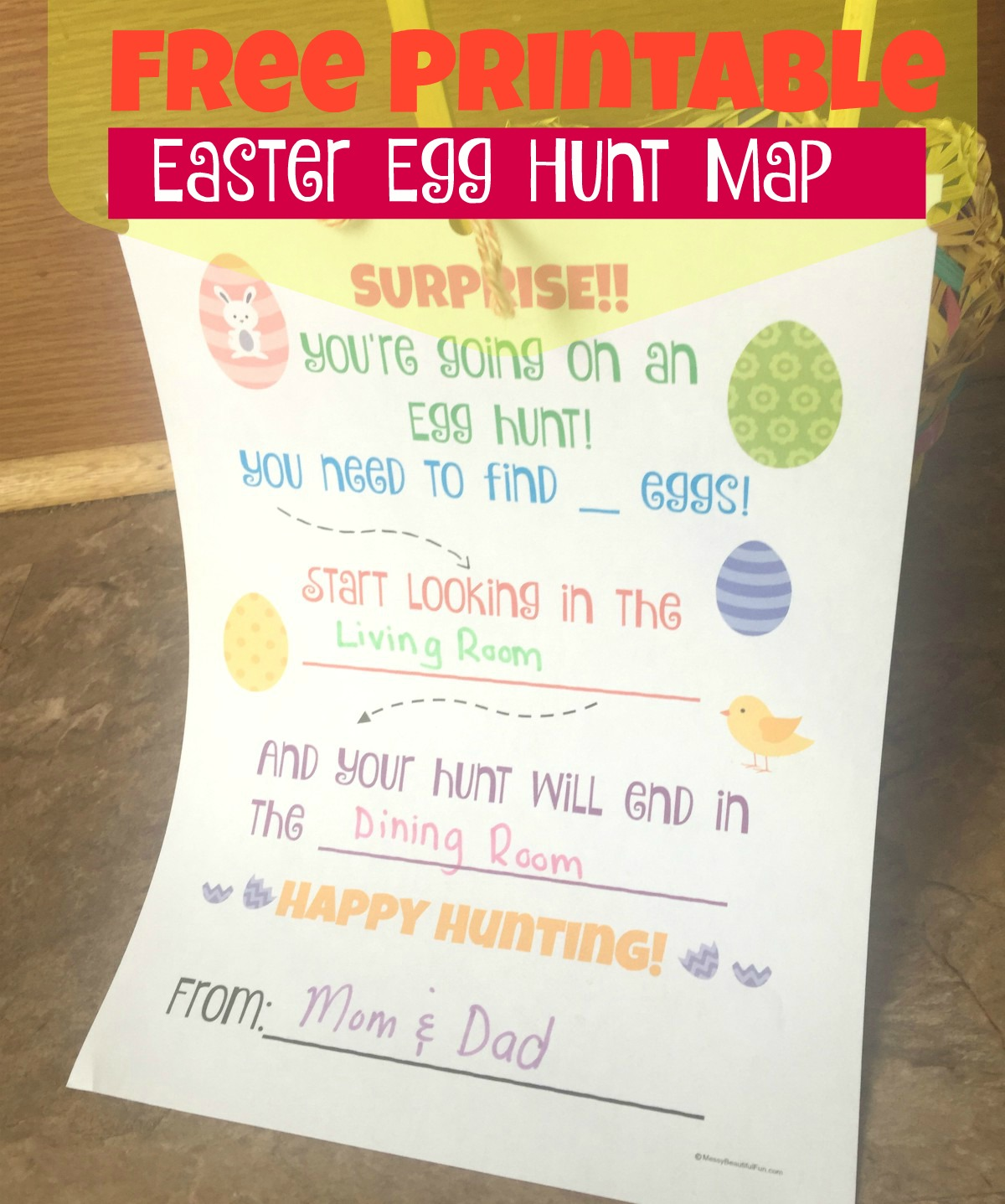 Messy beautiful fun free easter egg hunt printable easter is really early this year and i cant believe its just a couple weeks away now have you started your shopping yet because we havent maxwellsz