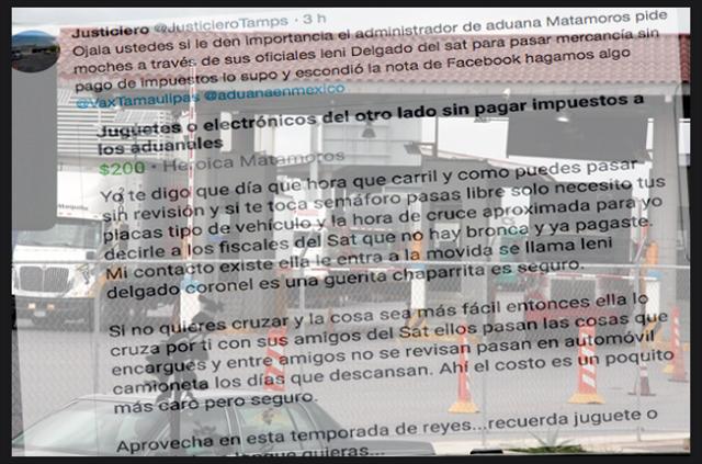 El Cártel del Golfo amo y señor controlador de cuotas en aduanas de Tamaulipas