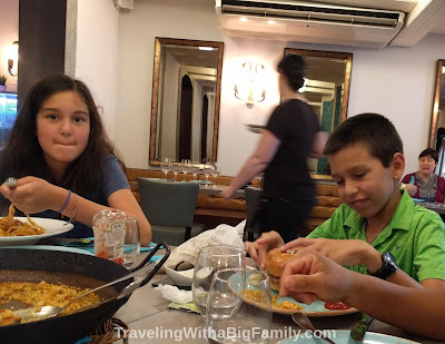 Top tips for saving money on food while traveling in Europe with a big family