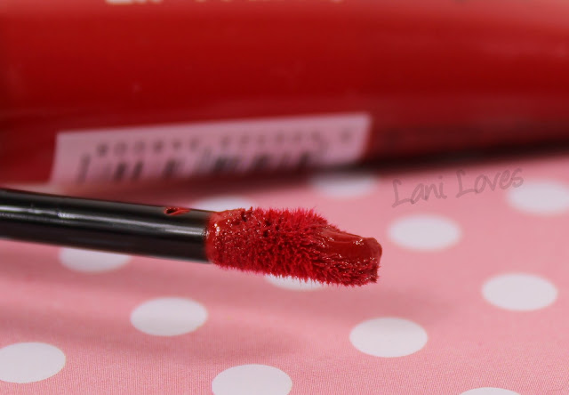 L'Oreal Lip Paint Lacquer - Red Fiction Swatches & Review