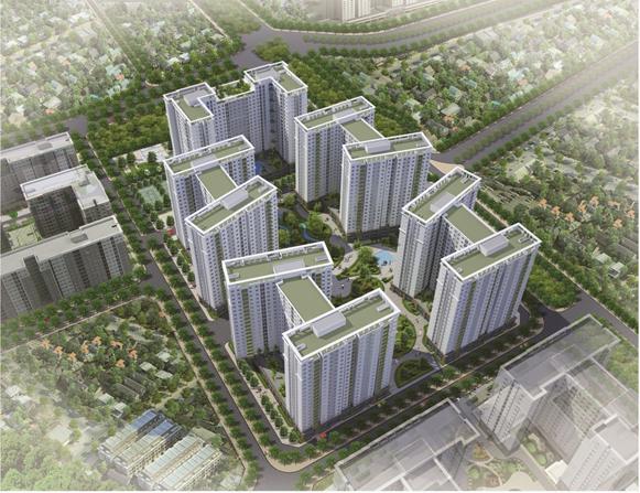 Phối cảnh dự án nhà ở xã hội chung cư Ecohome 3