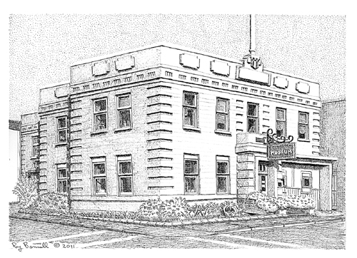 Sketches of Alaska Old City Hall part of modernization of downtown