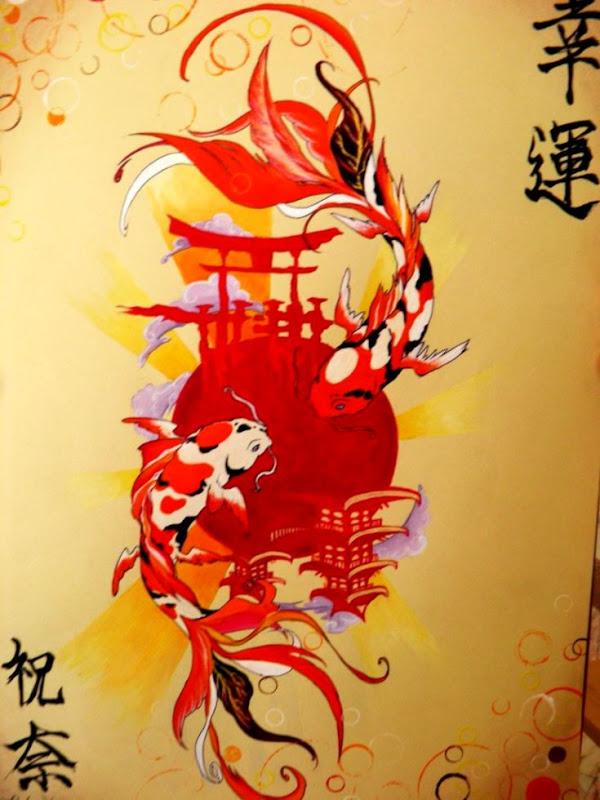 Koi Fish Art Hd Wallpaper Best Wallpapers Hd Gallery