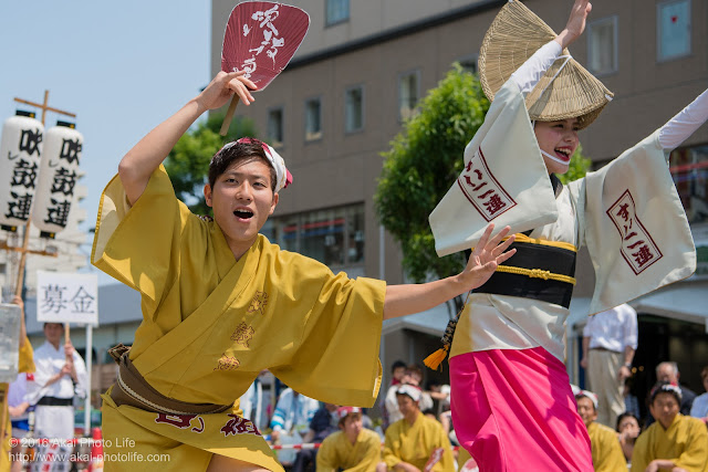 吹鼓連、高円寺駅北口広場での舞台踊りの写真 5