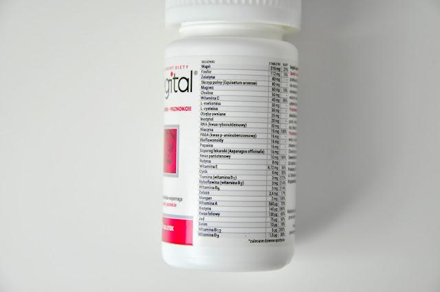 suplement diety na włosy, skórę i paznokcie