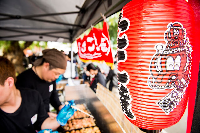 Popular Japanese festival food Takoyaki