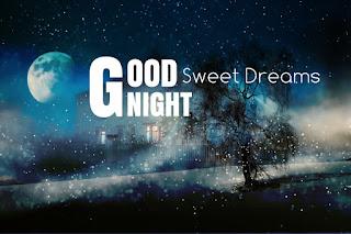 Full moon good night sweet dreams