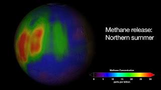 O metano, um gás normalmente gerado por processos orgânicos, foi encontrado em uma quantidade enorme na atmosfera de Marte, alimentando as teorias de vida no planeta.