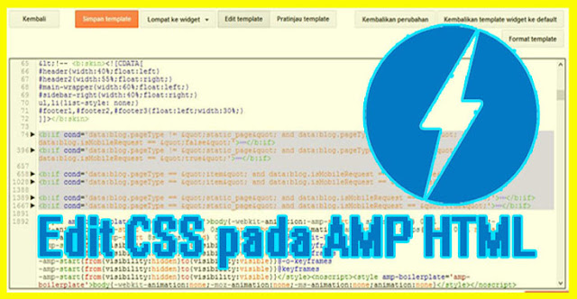 Edit CSS Template AMP