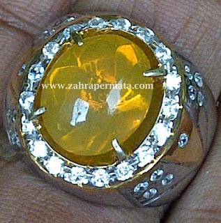 Cincin Batu Permata Fire Opal