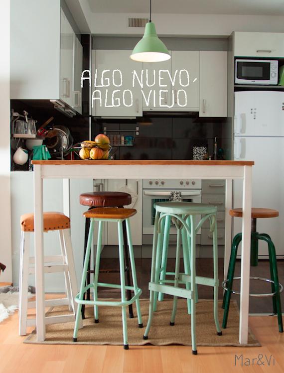 muebles reciclados en la cocina