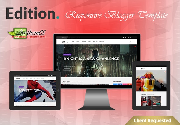 Edition Responsive Blogger Template Preview