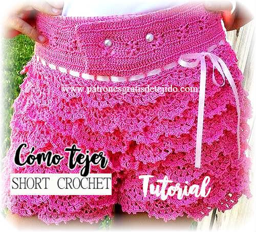 Cómo Tejer un Short a Crochet / Tutorial | Crochet y Dos agujas ...