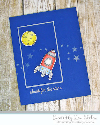 Shoot for the Stars card-designed by Lori Tecler/Inking Aloud-stamps and dies from Reverse Confetti