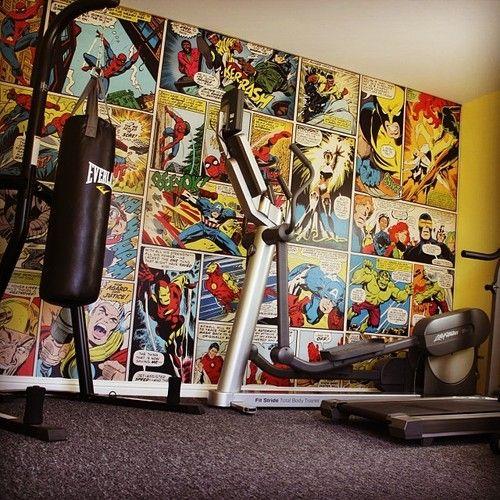Marvel tapet serie comics fototapet Captain America Iron Man Hulk ungdomstapet killtapet pojkrum barntapet